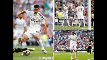 Así venció Real Madrid por 2-0 al Córdoba en el inicio de la Liga Española
