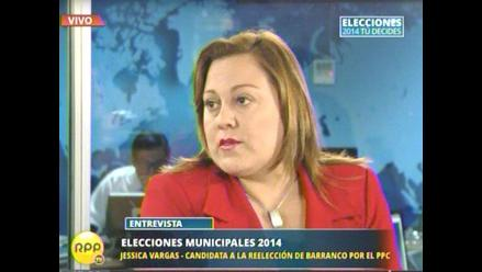 Alcaldesa Vargas: ´Lo que más hay en Barranco es robos al paso´