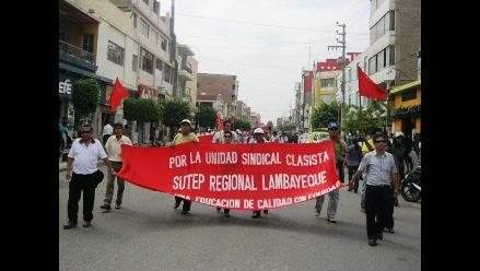 Lambayeque: Sute suspende jornada de protesta contra el Minedu