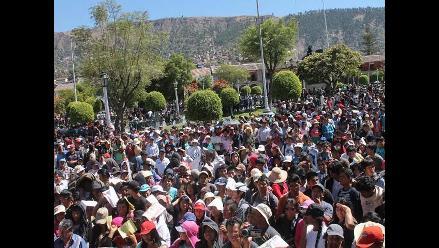 Manifestantes tacneños ratifican marcha a triángulo terrestre