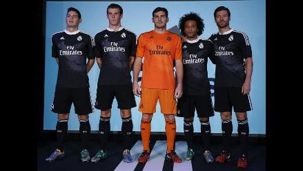 cfb55783f0eb2 Real Madrid presentó una innovadora indumentaria negra con dos dragones