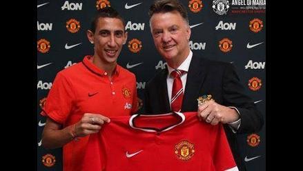 Van Gaal elogió la llegada de Ángel Di María al Manchester United