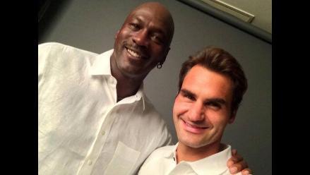Roger Federer y Michael Jordan sorprenden con selfie lleno de talento