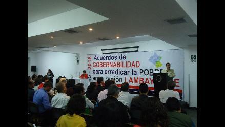 Chiclayo: candidatos reafirman pacto de lucha contra la pobreza