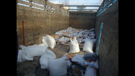 Chiclayo: policía incauta más de cuatro toneladas de sal