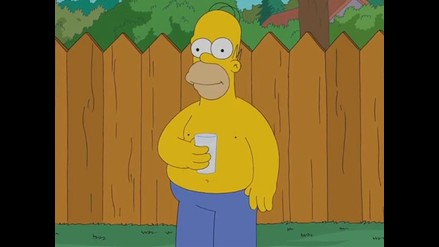 Homero Simpson: mira su divertido ´Ice Bucket Challenge´