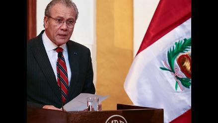 Canciller pide prudencia a manifestantes que irán al Triángulo Terrestre