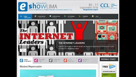 Feria de negocios digitales eShow se hará en Lima el 10 y 11 de setiembre