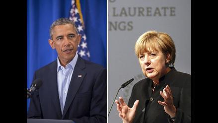 Obama y Merkel amenazan a Rusia con más sanciones por escalada en Ucrania