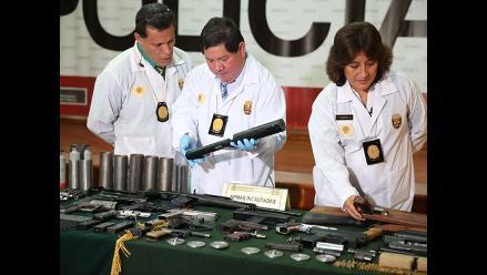 Armas incautadas en el Rímac iban a ser trasladadas a Cañete para un asalto
