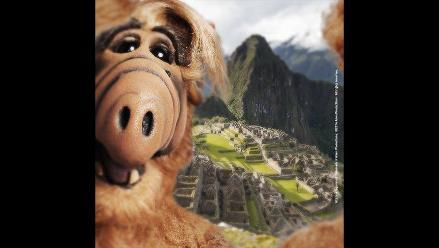Alf se hace un selfie en Machu Picchu y alborota las redes sociales