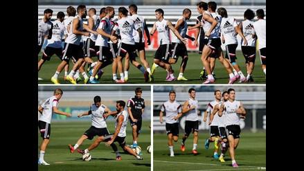 Real Madrid trabaja a James en posición ideal para enfrentar a Real Sociedad