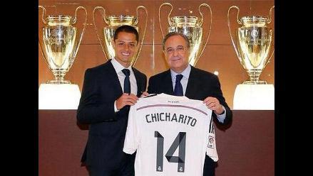 Real Madrid: Javier ´Chicharito´ Hernández llegó al Santiago Bernabéu
