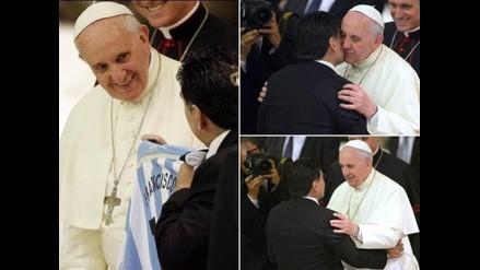 Diego Maradona y papa Francisco se encuentran previo a Partido por la Paz