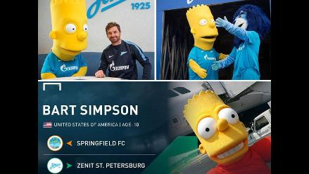 Zenit San Petersburgo fichó a Bart Simpson al cierre del mercado europeo