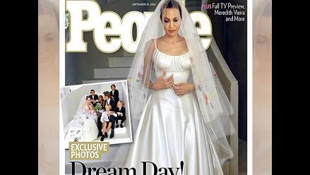 Angelina Jolie y Brad Pitt: fotos de su boda serán portada de People