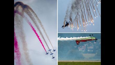 Impresionantes acrobacias aéreas en el Show aéreo internacional de Eslovaquia