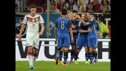 Argentina se cobra revancha y gana 4-2 a Alemania con golazo de Di María
