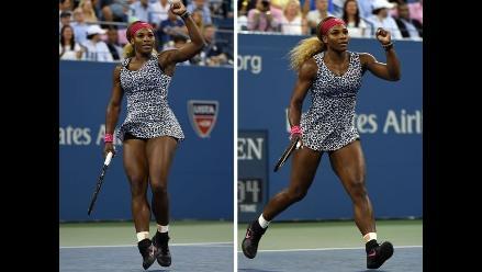 US Open: Serena Williams y su imponente físico ya están en semifinales