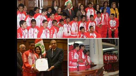 ¡Una más! Congreso homenajeó a medallistas peruanos de Nanjing 2014
