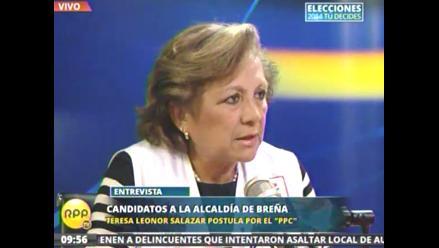 Leonor Salazar promete solucionar situación de veredas y pistas en Breña