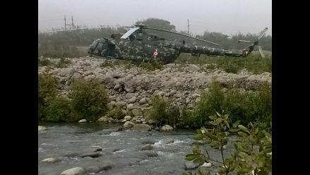 Helicóptero del Ejército aterrizó de emergencia en Ñaña