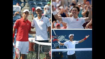US Open: Reviva el festejo de Nishikori y el lamento de Djokovic