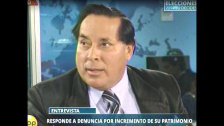Breña: Alcalde Gordillo negó irregularidades en aumento de su patrimonio