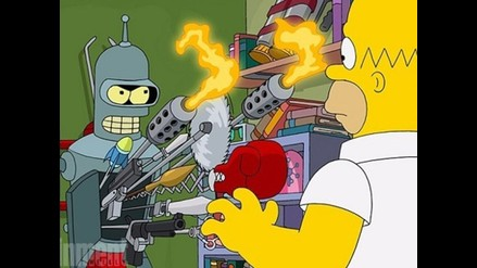 Los Simpsons: lanzan imagen del capítulo especial con Futurama