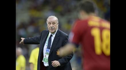 España: Del Bosque, contento por la goleada sobre Macedonia