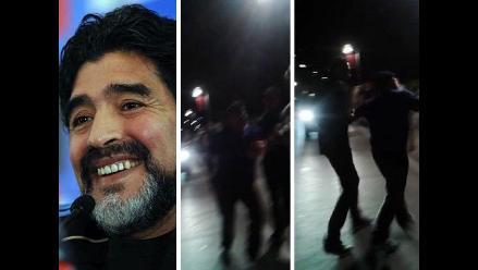 Diego Maradona y el video de su furia desatada tras festejar en Croacia