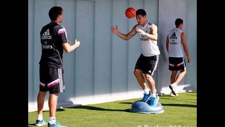 Real Madrid: James Rodríguez vuelve a entrenarse y ya piensa en el Derbi