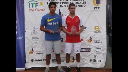 Mauricio Echazú logra campeonato de dobles en el Futures F5 Ecuador