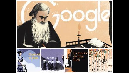 Google dedicó un doodle a León Tolstói por su genial obra