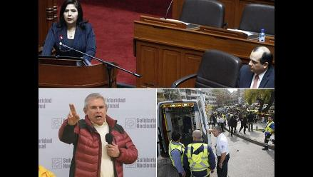 Las noticias más importantes de este miércoles: Ejecutivo sustentó presupuesto 2015, presentan recurso extraordinario para sacar de contienda a Luis Castañeda y hacen detonar dos bombas en centro comercial de Chile