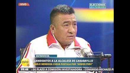 Así como Andrade, Mendoza  promete acabar con la inseguridad en Carabayllo