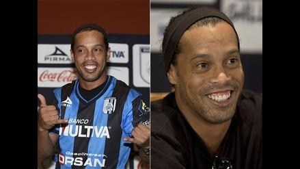 Revive en imágenes la presentación de Ronaldinho en Querétaro