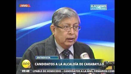 Álvarez: en Carabayllo no hay problemas con gremios de Construcción Civil