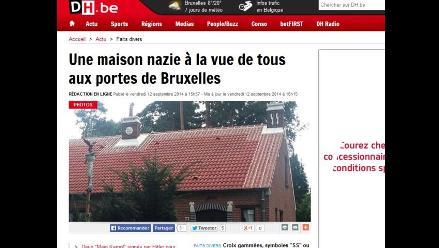 Polémica en Bélgica por casa que exhibe en su fachada símbolos nazis