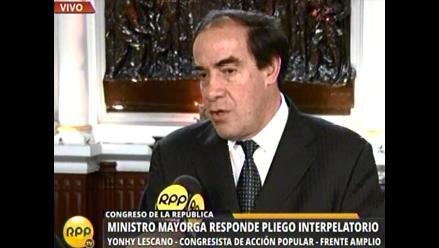 Lescano afirma que Mayorga ha creado más dudas y que debería renunciar