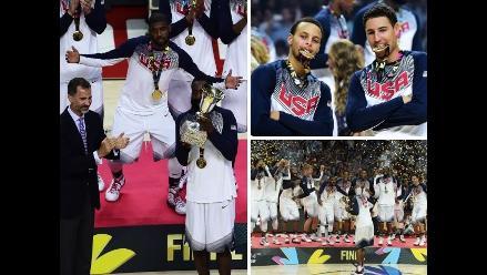 Mundial de Baloncesto: Estados Unidos y su loco festejo tras ganar el oro