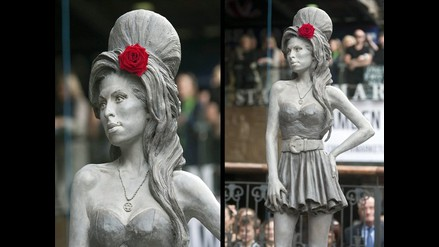¡Mira! Revelan estatua de Amy Winehouse en Londres