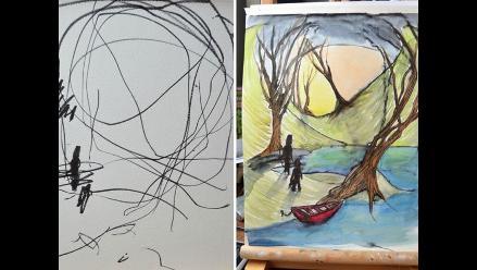 De garabatos a obras de arte: madre vende pinturas de hija