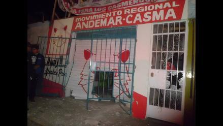 Casma: atentan contra local partidario del movimiento Ande Mar