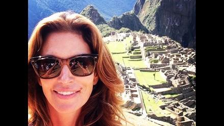 Cindy Crawford sorprende con un selfie en Machu Picchu