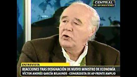 García Belaunde cree que con Segura en el MEF se derogará ley de AFP