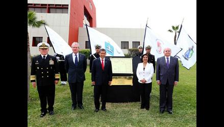 Ollanta Humala devela placa sobre delimitación marítima con Chile