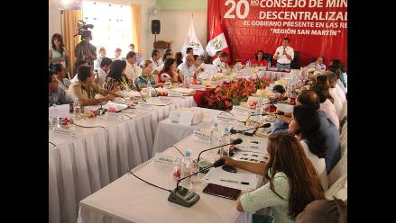 Suscriben acuerdos para San Martín en Consejo de Ministros