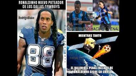 Ronaldinho en Querétaro: Los memes de su debut con derrota y penal fallado