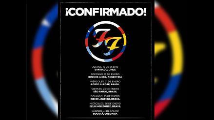 Foo Fighters: Perú no figura en su gira latinoamericana